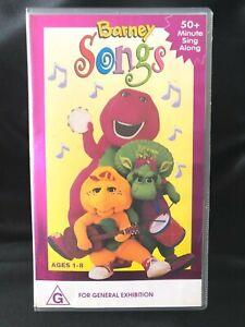 BARNEY THE DINOSAUR ~ BARNEY SONGS ~ SING ALONG ~ VHS VIDEO