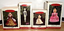 Barbie/Cinderella Christmas Ornament Set of 4 Keepsake Holiday