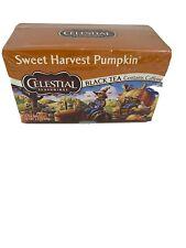New Celestial Seasonings Sweet Harvest Pumpkin Black Tea With Caffeine GF USA