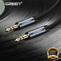 Ugreen 3.5mm Jack to Jack Car Aux Cable HIFI STEREO Audio Auxiliary Lead 1M Gold