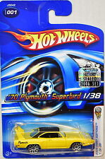 HOT WHEELS 2006 FIRST EDITIONS '70 PLYMOUTH SUPERBIRD #001 YELLOW FACTORY SEALED