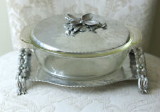 Beautiful Vintage 'Hand Wrought Creations By Rodney Kent' #440, Serving Tray/Lid