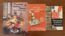 Vintage Lot 3 Floral Handbooks Rose Pruning Arranging Preserving Flowers