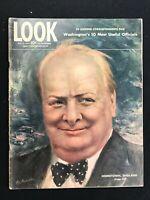 LOOK MAGAZINE - May 14 1944 - WINSTON CHURCHILL / Frank Sinatra