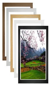 Panoramic Wood Picture Frame Poster Frame Photo Frame Black White Oak Pine