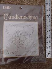 "Dritz Candlewicking Kit - Indiana Rose #9005 12"" x 12"" Beige Muslin  NEW"