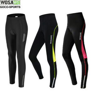 Ladies Compression Cycling Tights Padded Pants Cycle Long Trouser Legging S-XL