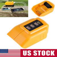 Portable USB Mobile Battery Charger Adapter For Dewalt 14.4/12V 20V Slide DCB090