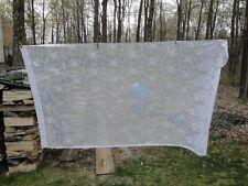 "Vintage Lot 4 White Lace Flower Pattern Panels, each 56"" W x 95 "" L"