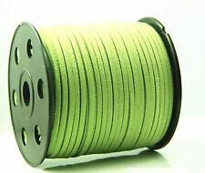 10yd Wholesale 3mm Suede Leather String Jewelry Making Bracelet DIY Thread Cord Green
