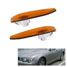 New Pair Side Fender Turn Signal Light Left Right For BMW E65 E66 745i 750i 760i
