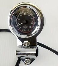Used Harley Davidson OEM Mini Tachometer Tach W/ Mount Gauge Bobber Chopper