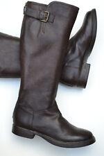 Clarks Ladies Knee-High Boots Moody Jazz Dark Brown Leather UK 4.5