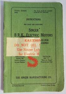 Vintage Singer 201K Sewing Machine Instruction Manual Booklet Form K4466