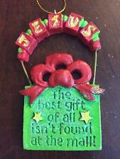 Jesus Best Gift of All Not at Mall Christmas Gift Ornament 3D Acrylic Glittered