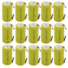 15x SubC Sub C 3400mAh 1.2V NiCd Rechargeable Battery W/Tab For Power Tools USA