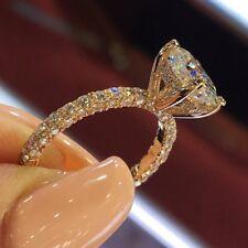 Women Oval Shape Stone 925 Silver Diamond Ring Wedding Engagement Jewelry Gift