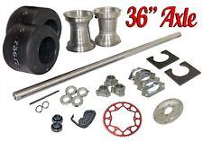 "Drift Trike 1-1/4"" x 36"" Axle Kit w/ #35 Chain Sprocket Tires Rims Parts Package"