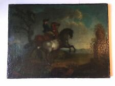 tableau ancien huile , Ecole Francaise , Cheval , Equestre