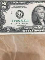 U.S. Currency Series 2013 RARE $2 Dollar Bill in Great Shape ( Chicago)