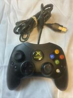 Original Microsoft XBOX 360 Controller S Type Wired Black OEM w/ Breakaway Cable