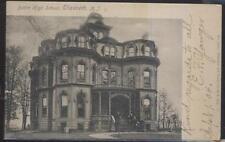POSTCARD ELIZABETH NEW JERSEY/NJ BATTIN HIGH SCHOOL CAMPUS BUILDING 1904