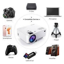 New Portable1080P Home Cinema Projector 3D LED Multimedia Theater Video HDMI VGA