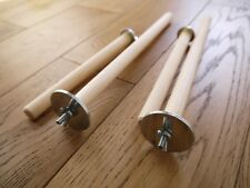 4 Natural Wood Bird Perches For budgies, finches and canaries sized birds