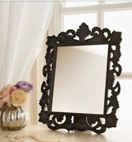 Black Vintage Baroque Style Mirror Wall Hanging/Free Standing Dressing Table New