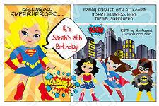 superhero invitations ebay