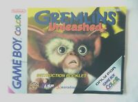 58565 Instruction Booklet - Gremlins Unleashed - Nintendo Game Boy Color () CGB-