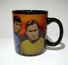 Star Trek Leonard Nimoy 'Spock' William Shatner 'Kirk' Warp Speed Black Mug Cup
