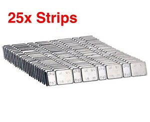 25x Strips, 8 Self Adhesive Weights For Model Railway Lima Mainline Triang Dapol