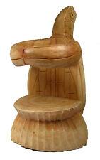 """In legno intagliati a mano singola Tartaruga PORTA BOTTIGLIA VINO 9.8"""" elevato Legno Fair Trade"""