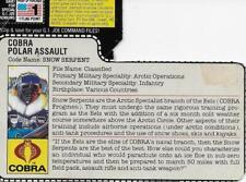 Vintage Hasbro GI Joe 1985 Snow Serpent Peach File Card