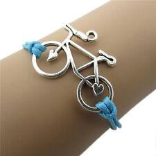 1X Vintage Leather Rope Bicycle Bracelets Handmade Rope Bike Wrap Bracelet Top