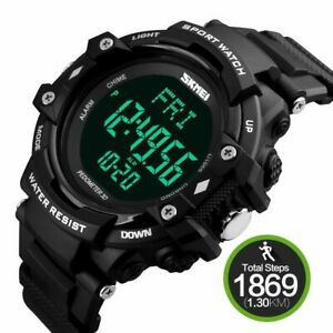 Men's Sports Health Watches Pedometer Heart Rate Monitor Activity Digital Watch
