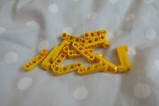 Lego Technic Liftarm 1 x 4 Thin with Stud Connector Ref 2825 in Yellow x 15pcs