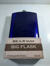 New listing Bear River 64oz Stainless Steel Big Flask Container w/Screw Tight Cap