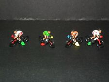 Model Train painted CYCLISTS  People Figures x 4 Assorted  1/76  Scale