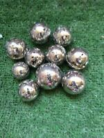 LOT OF 10 PYRITE  SPHERE  NATURAL FROM PERU