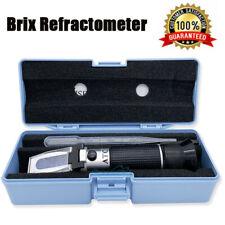 032 Brix Wort Specific Gravity Refractometer Fruit Juice Beer Wine Sugar Test