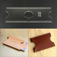 Acrylic Clear Template Handcrafting Set DIY Craft For Leather Wallet Bag-Patt Hw