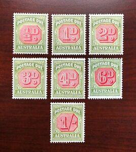 Australia 1938 Scott #J64-J70 Postage Due Mint LH