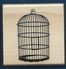 BIRD CAGE Metal Frame NEW Medium Wood Mount CRAFT Hobby RUBBER STAMP