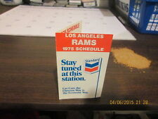 NFL Los Angeles Rams Vintage Logo 1975 Pocket Schedule