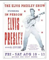 Elvis Presley Show King Of Rock & Roll Distressed Retro Vintage Metal Tin Sign