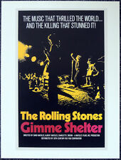 GIMME SHELTER 1970 FILM MOVIE POSTER PAGE . THE ROLLING STONES ALTAMONT . V51