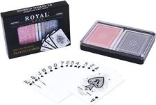 Royal Playing Cards 100% Plastic Poker Size