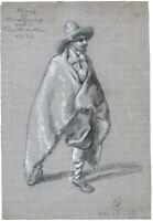 Wilhelm Emelé, Bleistift-/Kreide-Zeichnung, monogr., betitelt & datiert v. 1885